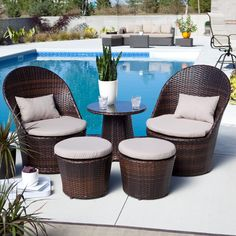 Coral Coast Layton All-Weather Wicker Balcony Chat Set - Wicker Furniture at Hayneedle