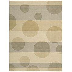 beige abstract wool nursery rug