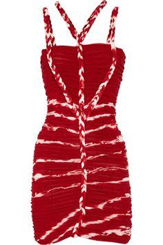 Isabel Marant Lia ruched fine-knit jersey dress NET-A-PORTER.COM