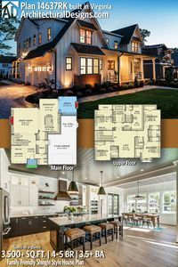 Architectural Designs House Plan 14637RK client-built in Virginia by our friends at River City Custom Homes!   4 - 5 BR   4.5+ BA   3,500+ sq. ft.  Ready when you are. Where do YOU want to build? #14637RK #adhouseplans #architecturaldesigns #houseplan #architecture #newhome #newconstruction #newhouse #homedesign #dreamhome #dreamhouse #homeplan #architecture #architect #housegoals #Shinglestyle #shinglehouse #traditional #modernfarmhouse #clientbuilt #client