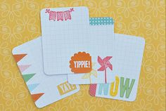 make your own journalling cards with stamps...doh!  by Stephanie Baxter for Pebbles
