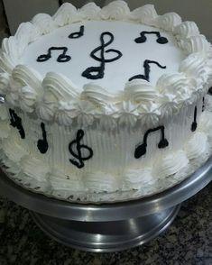 Bolo Musical, Piano Cakes, Food Truck, Cake Designs, Cake Recipes, Cake Decorating, Birthday Cake, Desserts, Diy