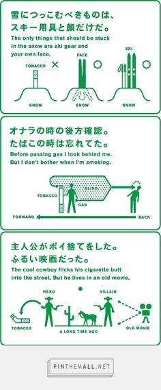 Completely quirky (unintentionally?) Smoking Etiquette Posters by Japan Railway Authority - http://www.kawaiikakkoiisugoi.com/2011/06/01/smoking-etiquette-posters/
