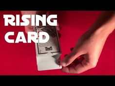 Thanks to video below you'll learn very cool card rising trick!) The trick is not that difficult to do if you know how to do a double lift ; Easy Card Tricks, Learn Magic, Cool Cards, Learning, Diy Crafts, Studying, Teaching, Onderwijs
