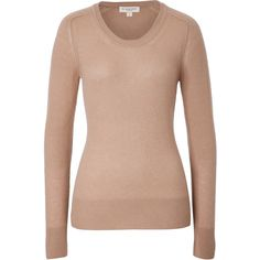Burberry London - Cashmere Pullover ($225) ❤ liked on Polyvore featuring tops, sweaters, beige, array0xd330b28, burberry, beige sweater, pullover sweater, cashmere sweaters and pullover tops