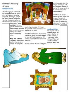 File:Sunday School Lesson Activity 502 The Birth of the Lord Jesus - Printable Nativity Scenes. Christmas Sunday School Lessons, Sunday School Kids, Christmas Activities For Kids, Preschool Christmas, Sunday School Crafts, Kids Christmas, Christmas Nativity, Bible Crafts For Kids, Preschool Bible