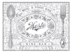 Mosto Wine & Food Bar / ID by Masif , via Behance