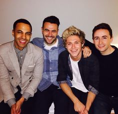 Niall Horan, Marvin Humes, Ben Winston, Willie Devine