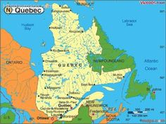 Map Of The Entire Province Of Quebec French Pinterest - Quebec state physical map