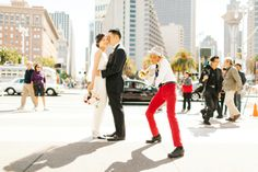 Modern City wedding in San Francisco  Photo Credit: Meg Perotti