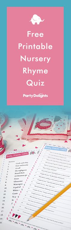 Looking for a fun baby shower game? Put your nursery rhyme knowledge to the test with our free printable nursery rhyme quiz! This baby shower quiz includes free printable question and answer sheets.