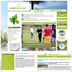 Golfportal www.hamburg-spielt-golf.de / Leistungen: Konzeption, Webdesign, Technische Umsetzung / Techniken: TYPO3, PHP, Javascript, mootools, XHTML, CSS, Geolocation