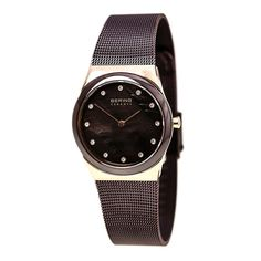 Bering 32230-262 Women's Ceramic Quartz Brown Dial Brown Ceramic Bezel Watch