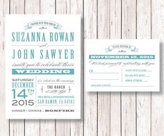 Rustic Wedding Invitation and RSVP Card Printable DIY Wedding Invitation, Old Fashioned, The Nashville Collection