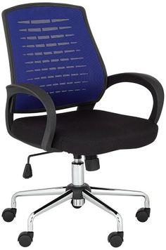 Blue Mesh Back Adjustable Office Chair Adjustable Office Chair, Home Office Chairs, Contemporary, Modern, Mesh, Blue, Furniture, Home Decor, Larger