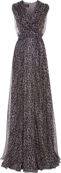 Ocelot Print Gauze Long Dress - Lyst jaglady