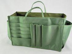 Lady Handbag Purse Tote Bag Organizer Insert Divider Item #J6-Green #unbranded #organizerbag