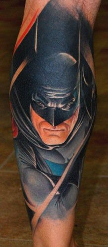 Batman Tattoos are very popular nowadays thanks to Nolan and Bale! The Dark Knight version of Batman has seen a huge explosion of Bat-Tats in recent years! Dad Tattoos, Best Friend Tattoos, Couple Tattoos, Girl Tattoos, Tatoos, Crazy Tattoos, Portrait Tattoos, Awesome Tattoos, Latest Tattoos