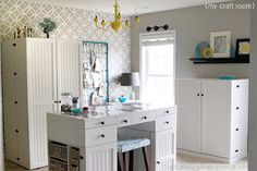 I love the clean look of white furniture; my stamp room is a hodge podge of different furniture colors