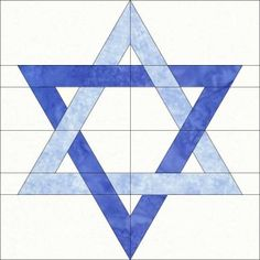 Star of David quilt block