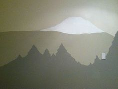 Easy to paint mountain/tree mural