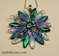 fused glass necklace - Google Search