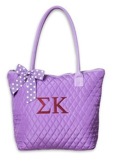 Sorority Quilted Tote Bag www.sassysorority.com