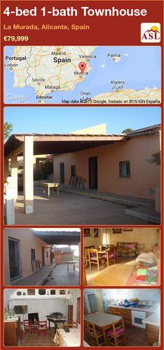 4-bed 1-bath Townhouse in La Murada, Alicante, Spain ►€79,999 #PropertyForSaleInSpain