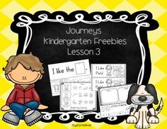 I created this set of printables to use while I teach lesson 3 of the Journeys Reading Series for Kindergarten. Enjoy!