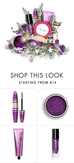 """""""Happy Purple Holidays"""" by kiki-bi ❤ liked on Polyvore featuring beauty, Ultimate, Max Factor, MAC Cosmetics, Monet, giftguide, Beauty, gifts and beautyset"""