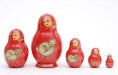 Matryoshka dolls  with cats
