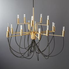 - also a cool, more modern option for the master Tangent Brass Chandelier Capiz Chandelier, Modern Chandelier, Chandelier Lighting, Chandeliers, Globe Pendant Light, Modern Pendant Light, Ideas Habitaciones, Dining Room Design, Messing