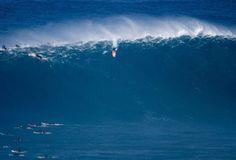 Scooby surfa onda gigante na remada em Jaws (Foto: Divulgação)