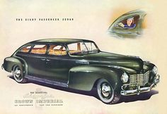 Chrysler 8 Passenger Sedan Crown Imperial 1940 - Mad Men Art: The 1891-1970 Vintage Advertisement Art Collection