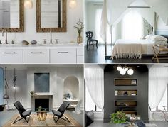 Interior design ideas for both warm and modern, unexpected and clean layouts