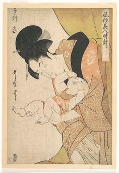 Kitagawa Utamaro (Japanese, 1754–1806). Midnight: Mother and Sleepy Child, 1790. Edo period (1615–1868). Japan. The Metropolitan Museum of Art, New York. Rogers Fund, 1922 (JP1278)