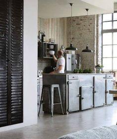 Modern and Industrial Loft Style Kitchen, by designer Lacarriere Koekken.