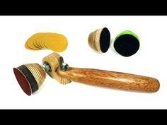 Homemade Spinning Bowl Sander - YouTube