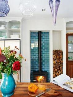 37+ Ideas for wood burning stove surround tile #wood