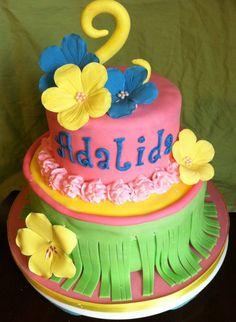 Hawaiian Theme Birthday Cake!