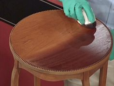 Learn expert advice on basic steps for staining -- a simple and inexpensive way to update wood furniture.