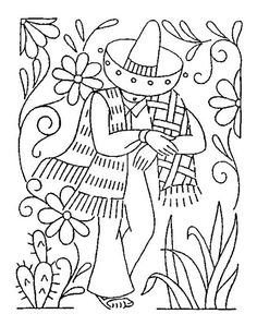 Embroidery Vintage LW 1890 e Halloween Embroidery, Mexican Embroidery, Vintage Embroidery, Diy Embroidery, Cross Stitch Embroidery, Machine Embroidery Applique, Hand Embroidery Patterns, Sue Sunbonnet, Sewing Art