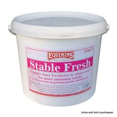 Equimins Stable Fresh Dry Bed Disinfectant Powder By popular request we have produced this product for disinfecting the floor and also to help remove ammonia smells from the urine.