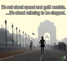 Motivational Running Quotes To Help You Push Through It's not about speed and gold medals. It's about refusing to be stopped. I Love To Run, Run Like A Girl, Just Run, Girls Be Like, Marathon Motivation, Running Motivation, Health Motivation, Motivation Quotes, Keep Running