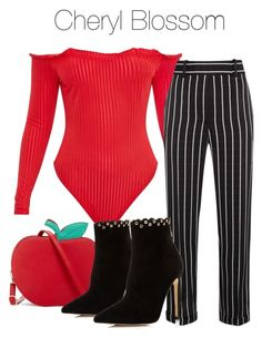 A fashion look from February 2018 featuring striped pants, high heel boots and cross body. Cute Everyday Outfits, Casual School Outfits, Teen Fashion Outfits, Fashion Pants, Cool Outfits, Marvel Inspired Outfits, Birthday Outfit For Teens, Riverdale Fashion, Fandom Fashion