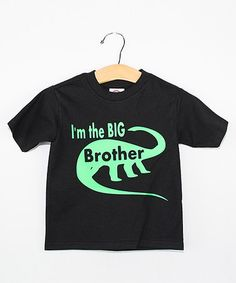 Look what I found on #zulily! Black 'I'm The Big Brother' Tee - Toddler & Boys #zulilyfinds