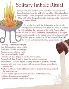 Kitchen Witch Craft and Magic Solitary Imbolc Ritual Imbolc Ritual, Samhain, Fire Festival, Festival Lights, Yellow Candles, Wicca Witchcraft, Pine Branch, Book Of Shadows, Yule