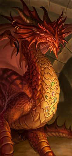 This is another piece from the D&D Adventure, Madness at Gardmore Abbey . It depicts a red dragon who dwells beneath the Abbey. The dragon . Dragon Tales, Fantasy Art, Red Dragon, Mythical Creatures, Fire Dragon, Art, Dragon Pictures, Fantasy Dragon, Dragon Dreaming