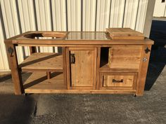 Custom Grill Table Or Grill Cart For Big Green Egg, Kamado Joe, Primo Or  Add A Gas Grill Drop In U0026 Mini Fridge For An Outdoor Kitchen