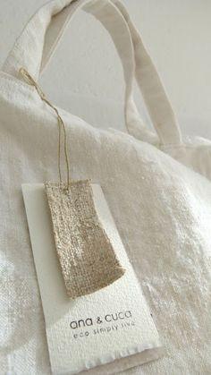 Ana & Cuca white linen tote